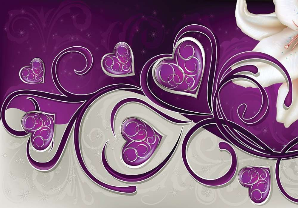 LILY VIOLET BACKGROUND - C04164