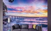 фототапет лилав изгрев