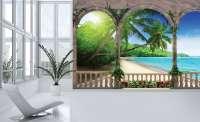 фототапет 3д плаж и море