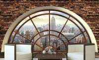 фототапет 3D прозорец Ню Йорк