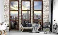 фототапет 3д прозорец ню йорк