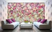 фототапет стена от цветя
