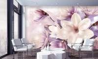 фототапет цвете магнолия лилава