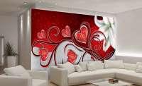 фототапет червени сърца