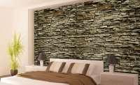 фототапет кафява стена от камък