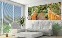 фототапет панорама на дървен мост