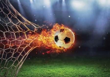 Фототапет горяща футболна топка - 13896