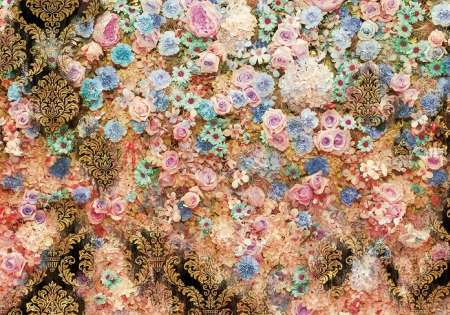 Wall of Flowers Golden  - C0491