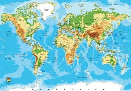 Фототапет карта на света - 10250