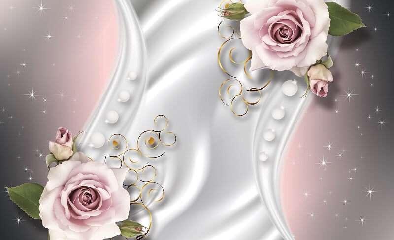 фототапет колаж от рози на фон