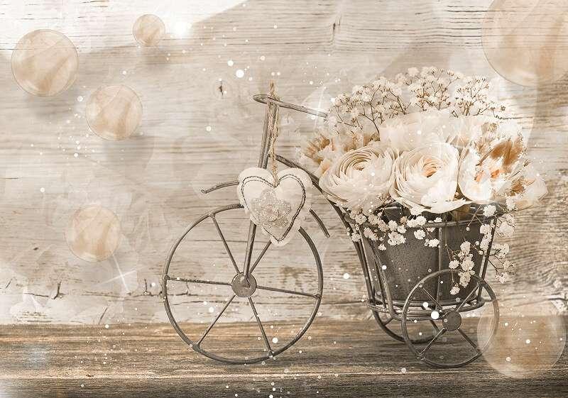 фототапет колело с рози