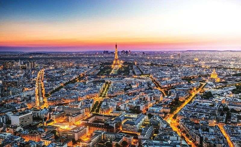 Фототапет нощна гледка в Париж
