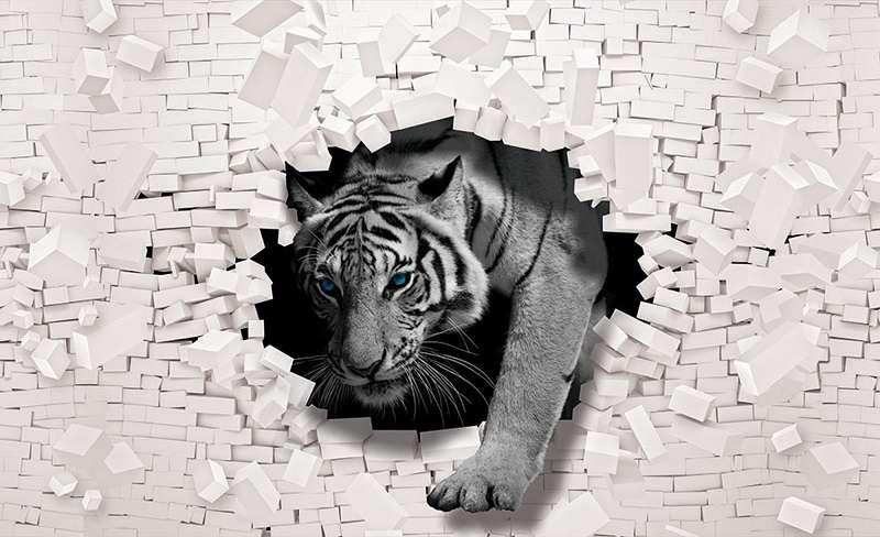 Фототапет с животни с дивия тигър