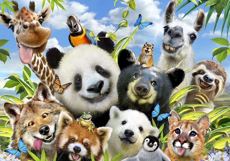 Фототапет диво селфи с малките животни