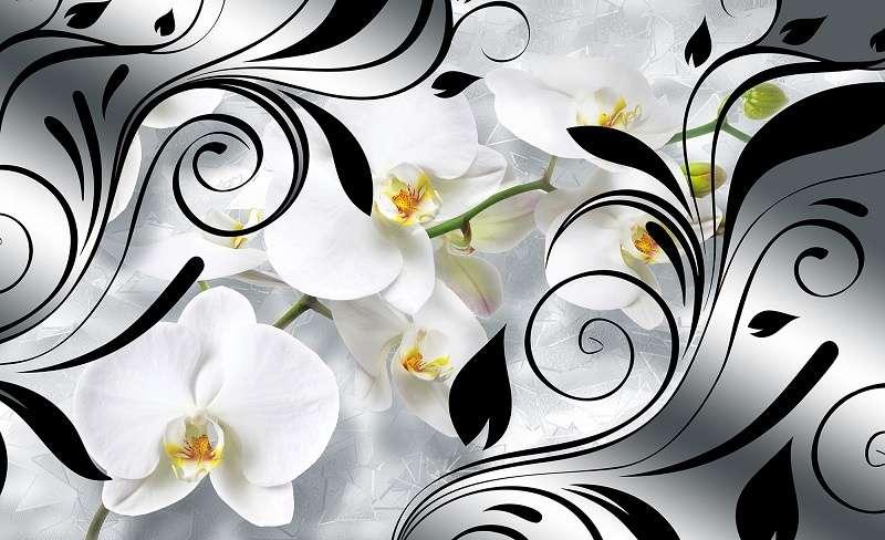 абстрактен фототапет с орхидея