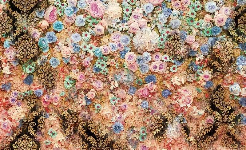фототапет стена с рози