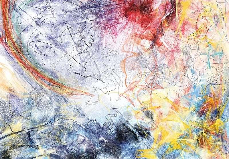 Фототапет с абстракни линии от цветове