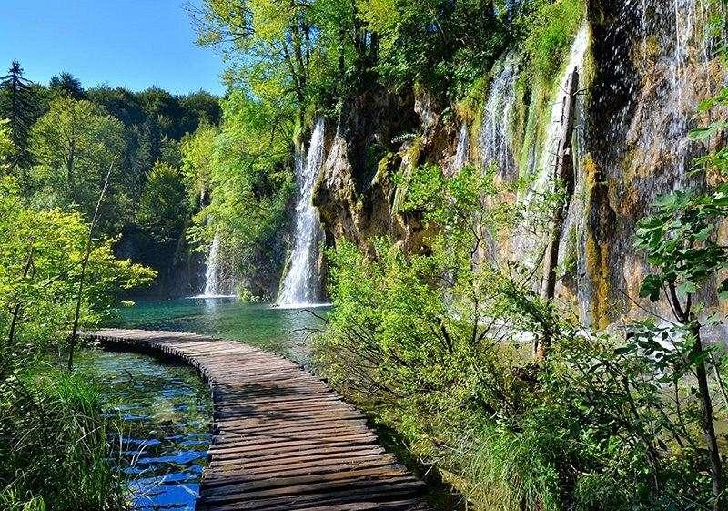 Фототапет горска алея от водопади