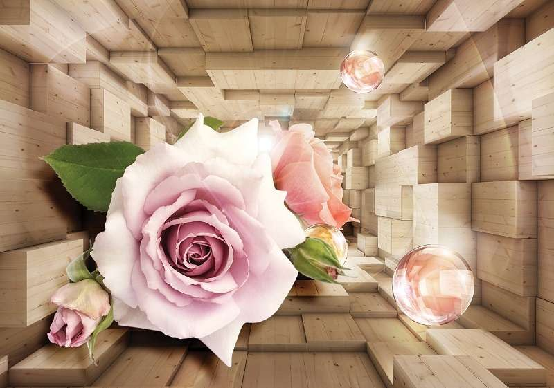 фототапет 3д роза