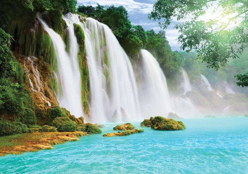 Фототапет с бурни водопади