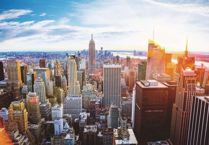 Фототапет слънчев Ню Йорк