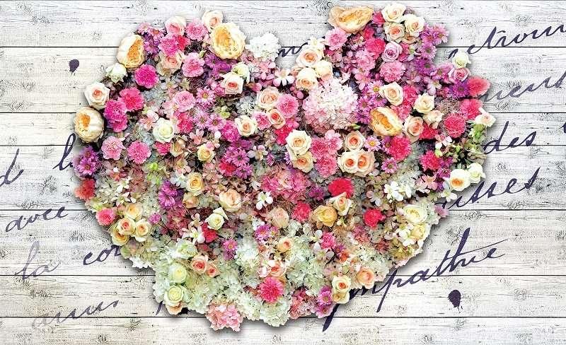 фототапет сърце от рози