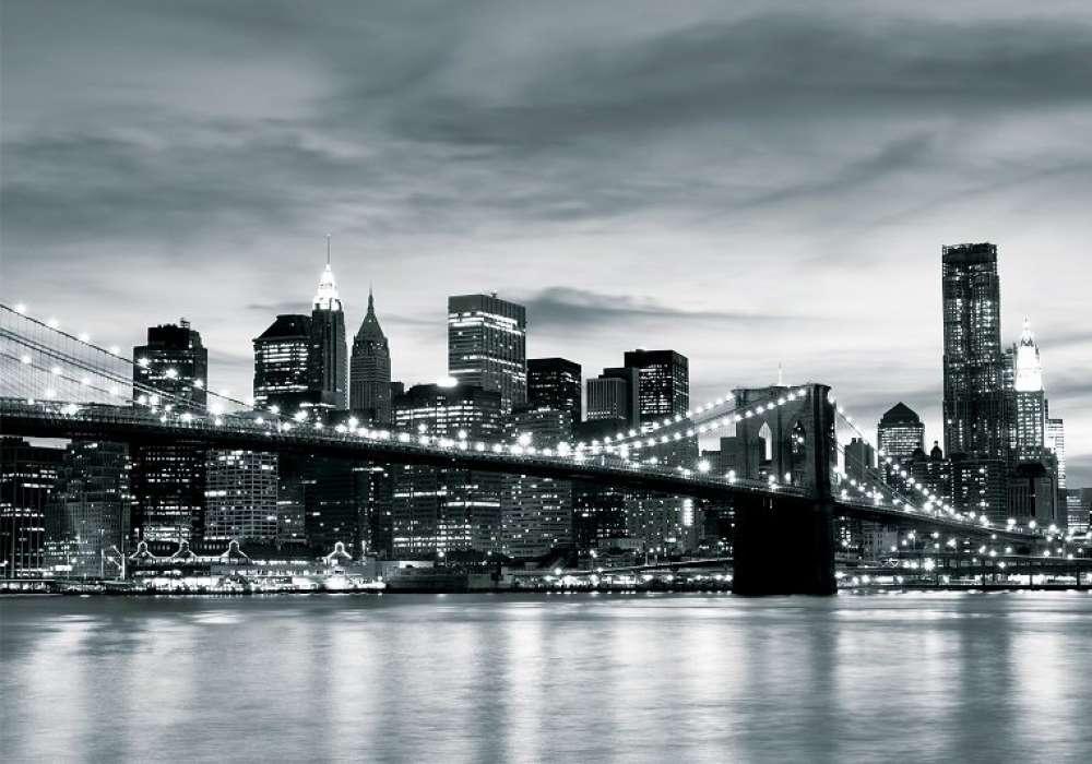 NEW YORK, Brooklyn Bridge BW - C0424