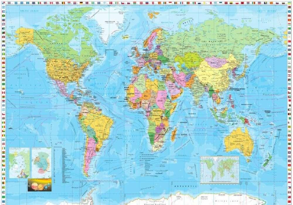 World Map Flags - K418