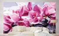 фототапет орхидея на камък 0410