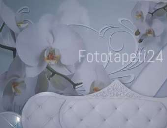 Фототапет бяло цвете