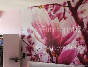 фототапет розова магнолия