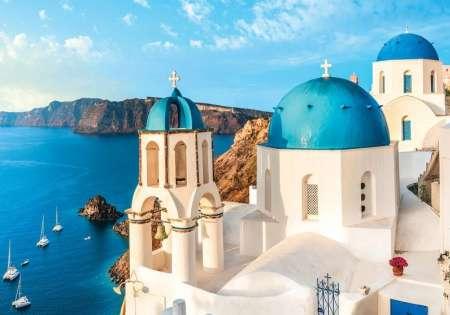 Фототапет църква в гърция - 13985