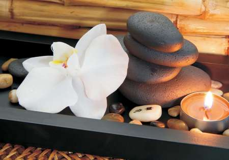 Zen Stones and Flower - C02190