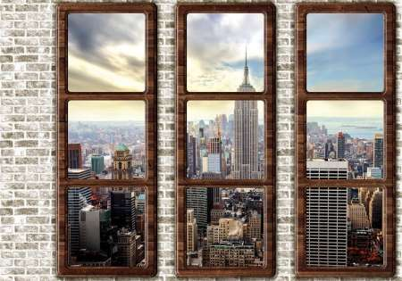 New York window wall - C0487