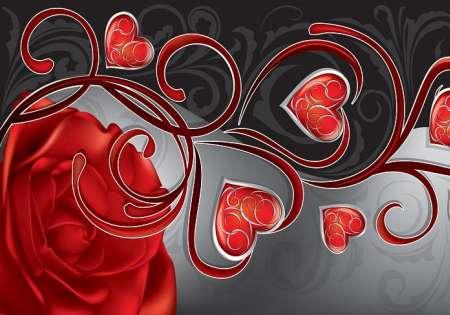 Rose wiht Hearts  - C0441