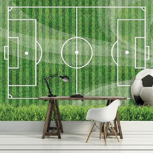 фототапет на футболно игрище