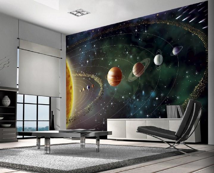 фототапет космос звездна карта