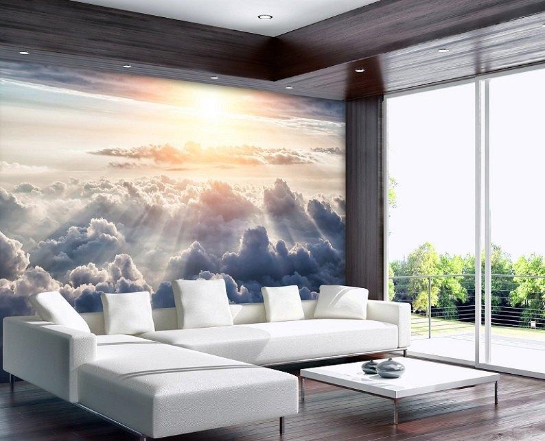 fototapet cer și nori