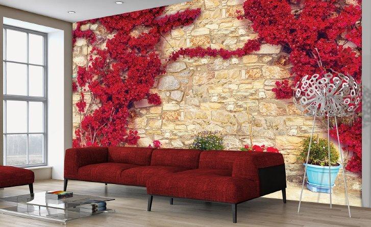 fototapet perete flori 3d