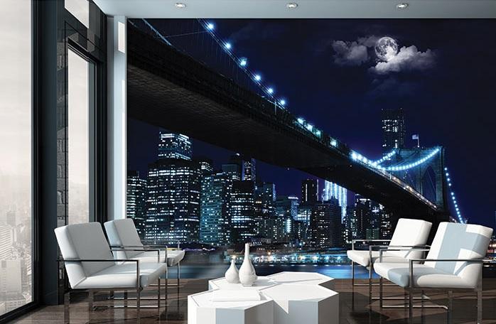 fototapet un pod din oraș