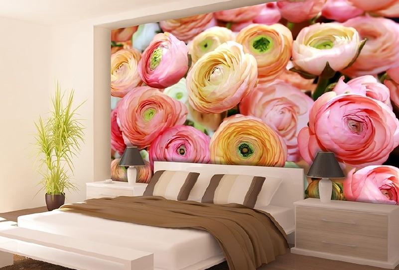 Fototapetул pentru dormitor trandafiri