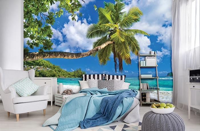 Fototapetul pentru dormitor unui palmier