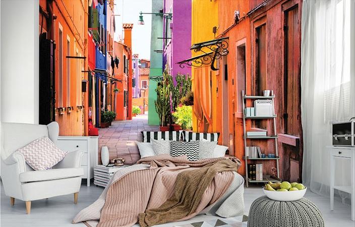 Fototapetul pentru dormitor strada