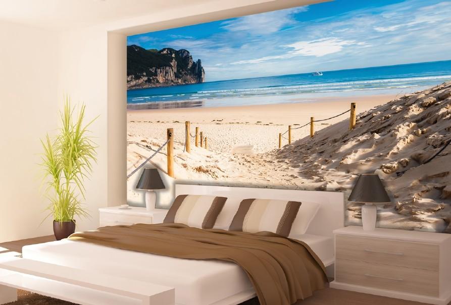Fototapetul pentru dormitor plajă și mare
