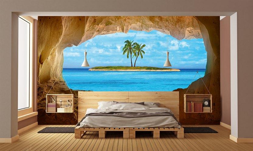 Fototapetul pentru dormitor insulă pe mare